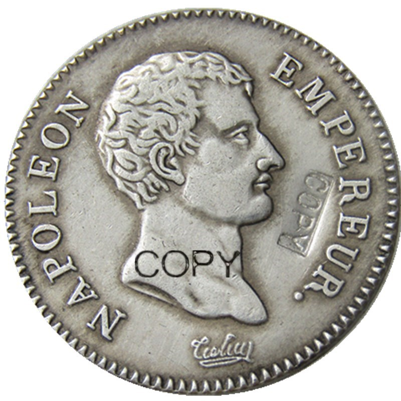 France A Set Of(AN13 A M AN14 A M) 4pcs 2Francs Silver Plated Copy Coins