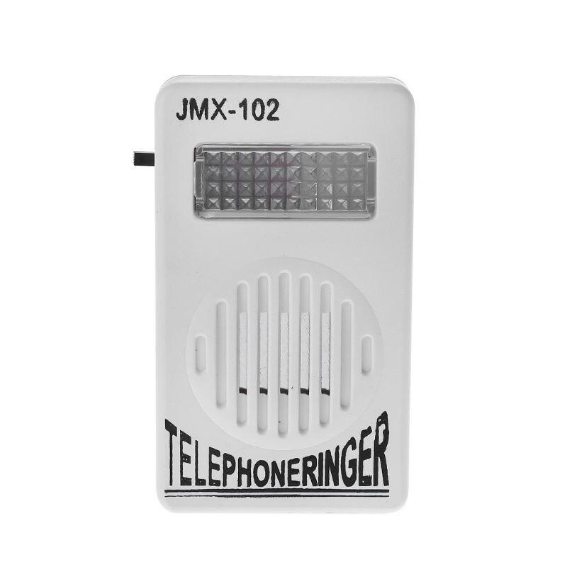 Telephone Ringer Phone Amplifier Ring Speaker Strobe Light Flasher Bell Extra-Loud Sound Wall Hanging