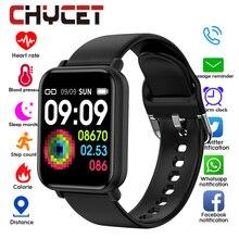 Bluetooth 4,0 Smart Uhr Männer Wasserdichte IP68 Smartwatch Frauen Blut Druck Aktivität Tracker Uhr Smart Sport Für Android Ios