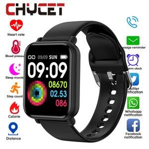 Image 1 - Bluetooth 4.0 inteligentny zegarek mężczyźni wodoodporny IP68 Smartwatch kobiet ciśnienia krwi zegarek z opcją śledzenia aktywności Smart Sport dla Android Ios