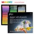 Mungyo 48/24/36 Цвет s Профессиональная мягкая масляная пастель сухой высокое качество тяжелый Цвет цветные карандаши для рисования канцелярские ...