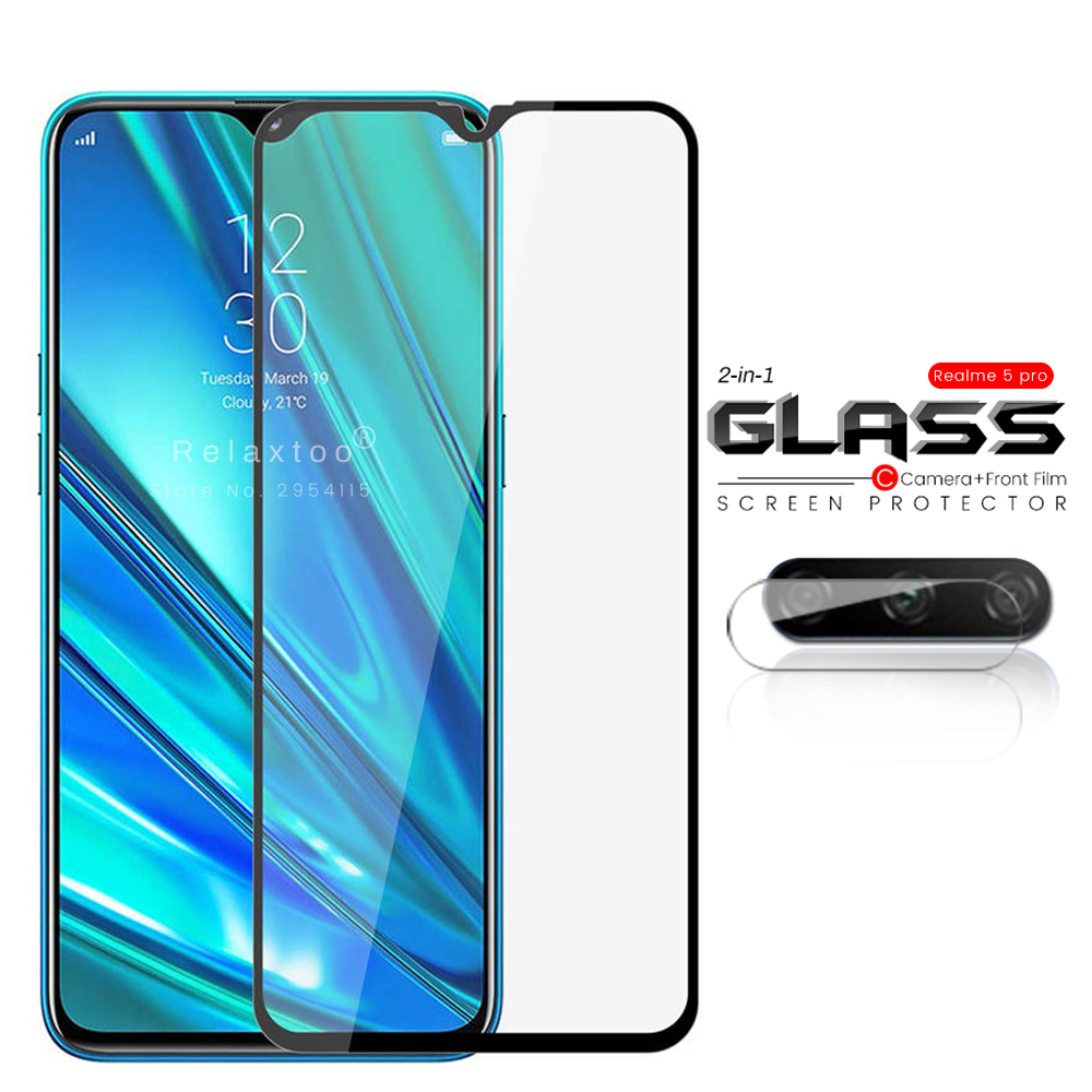 2-in-1 Camera Glass Protector For Oppo Realme 5 Pro Protective Glass On Realmi Redme 5i 5s 5 Pro Redme5i Realme5 Realme5pro Film