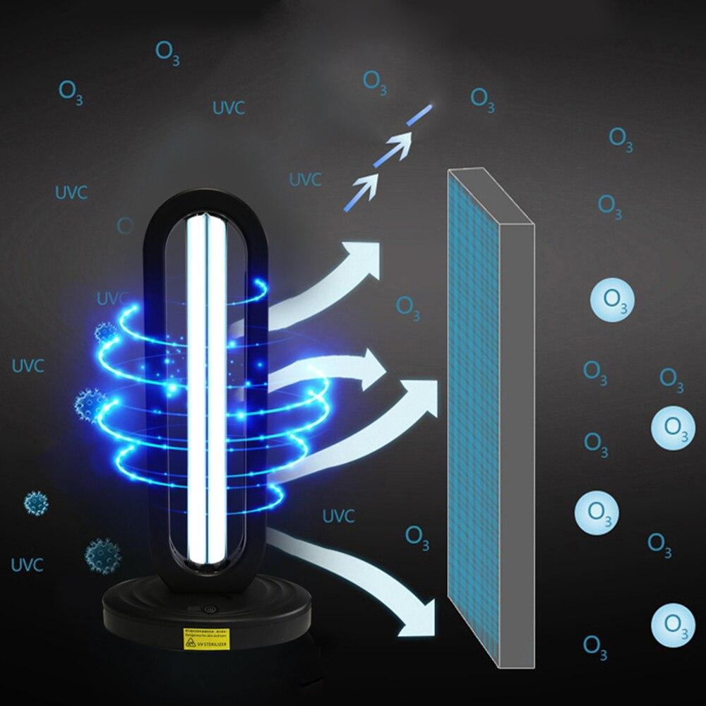 220V Remote Control Ultraviolet Sterilizing Lamp 38W UV Disinfection Light High Ozone UVC Germicidal Lamp