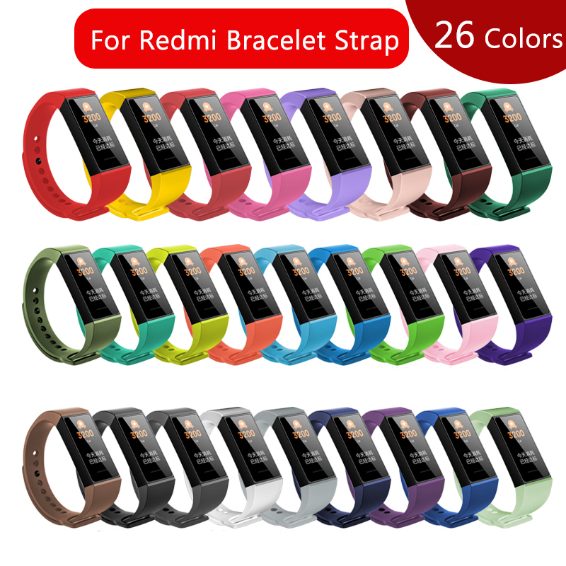 Silicone Strap For Redmi Smart Bracelet Replacement Wristband For Xiaomi Redmi Band New 2020 Sport Watch For Redmi Band Strap