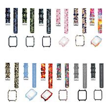 1Set Soft Silicone Watchband Wrist Strap Hard PC Protective Case Shell Skin Protector for Xiaomi Huami Amazfit Bip Bit Youth Sma цена и фото