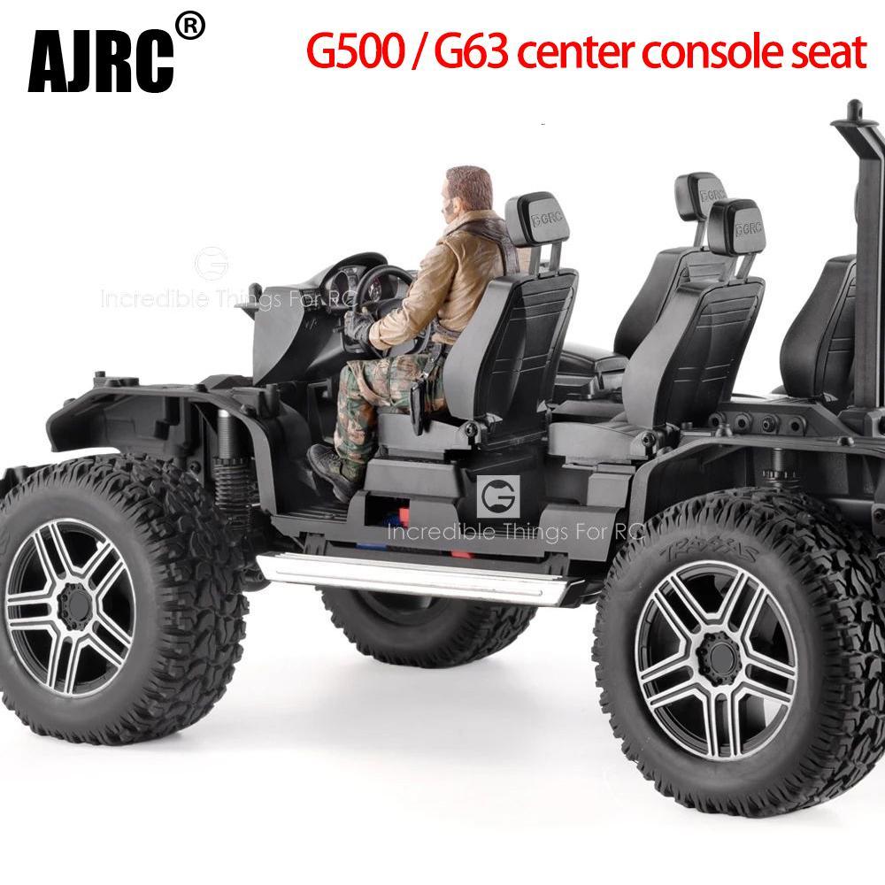 Black ABS Interior For Trx6 TRX-6 6X6 G63 TRAXXAS TRX-4 G500 Cockpit Seat Instrument Panel Steering Wheel Foot Pedals Interior