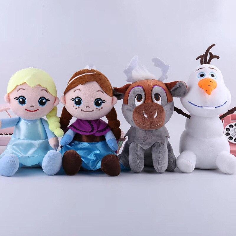 20cm Disney Frozen 2 Toy Anna Elsa Princess Snowman Olaf Plush Doll Soft Stuffed Animals For Children's Birthday Gift