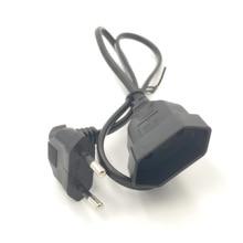 Cable de extensión de alimentación hembra a macho, ángulo de flexión VDE 2 clavijas, europeo, para PC, ordenador, PDU, UPS, 0,3 M/0,6 M