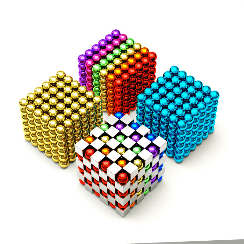 Buckyballs 1000 Set Magic Beads Magnetic Magnet Reduction Decompression Men's Small Magnetic Building Blocks Adult Toy