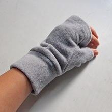 2020 перчатки для вождения и бега без пальцев Плюшевые флисовые