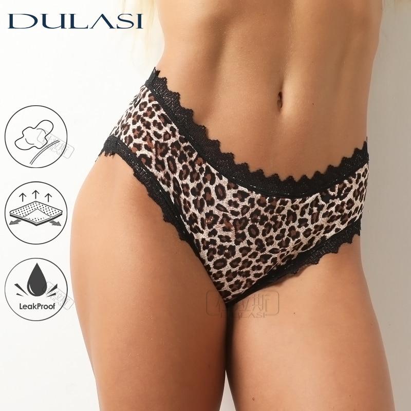 Leopard Print Sexy Menstrual Underwear