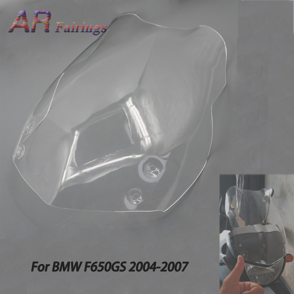 Front Windshield WindScreen Wind Screen Shield Airflow Deflectors For BMW F650GS F 650 GS F 650GS F650 GS 2004 2005 2006 2007 image