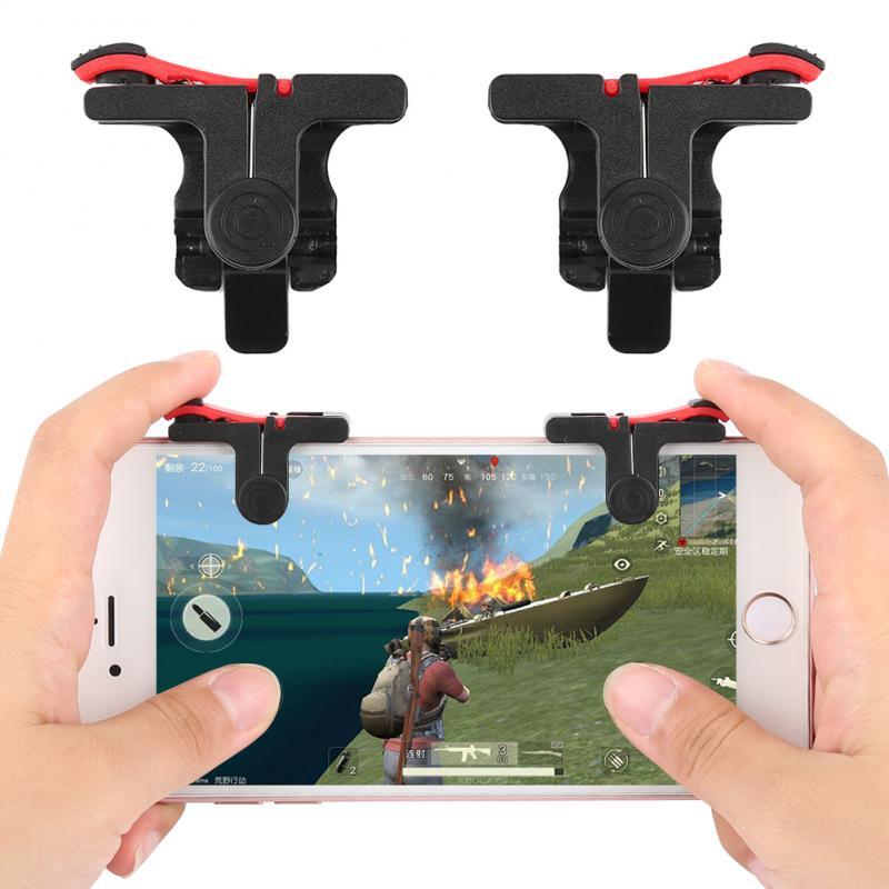 1 пара игровых триггеров, подходящих для устройств, мобильный телефон, максимальный размер-6 дюймов, поддержка нескольких игр, растягивающие...