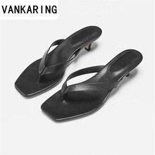 fashion split toe beach slippers kitten heels black shoes woman sandals sexy summer slides ladies casual sapato feminino
