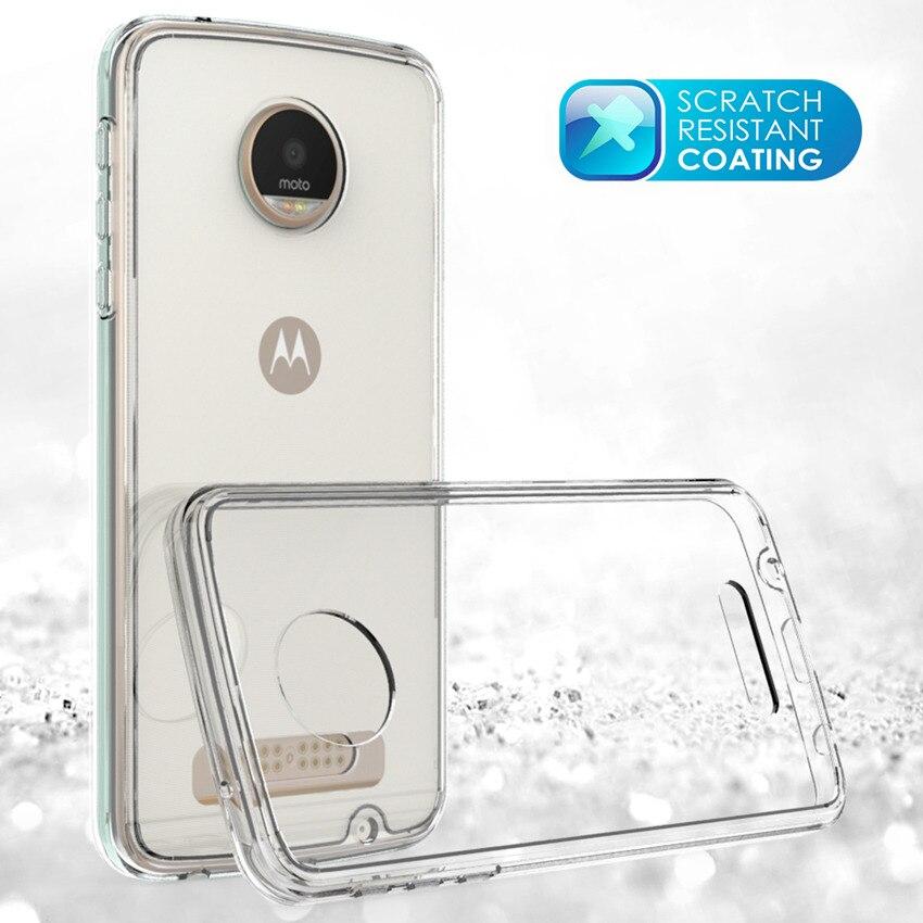Motorola Moto Z Play Fundas Coque üçün nazik hibrid şoka davamlı - Cib telefonu aksesuarları və hissələri - Fotoqrafiya 2