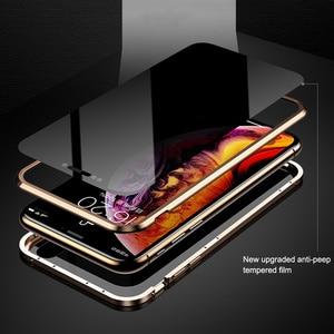 Image 3 - Magnetische Adsorption Metall Telefon Fall Für iPhone 6 6s 8 7 Plus X Doppelseitige Glas Magnet Abdeckung Für iPhone X XS MAX XR Fällen