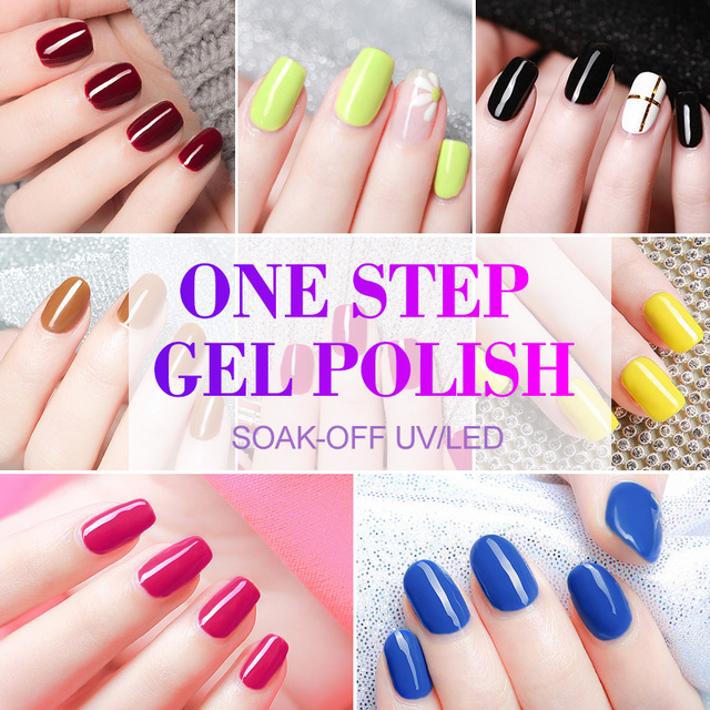 3 in 1 UV Gel Polish One Step Gel Lacquer VENALISA Soak off Organic UV LED Nail Gel Varnish Nail Art Salon New Arrival Varnish 5