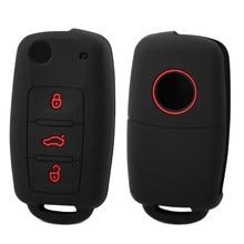 3 кнопки силиконовые ключи обложка чехол для VW Golf 4 5 6 7 Бора Jetta POLO MK4 MK6 Bora Passat B5 B6 превосходные тигуан жук