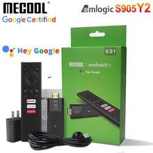 Google Chromecast Android 10 4K Mecool KD1 TV kij Amlogic S905Y2 Box Youtube Prime wideo xxx dla Netflix Premium dla Amazon