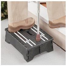 Ao ar livre não deslizamento de plástico dobrável cadeira meia etapa escada dobrável pequeno banquinho walking aid para deficiência mobilidade de idosos