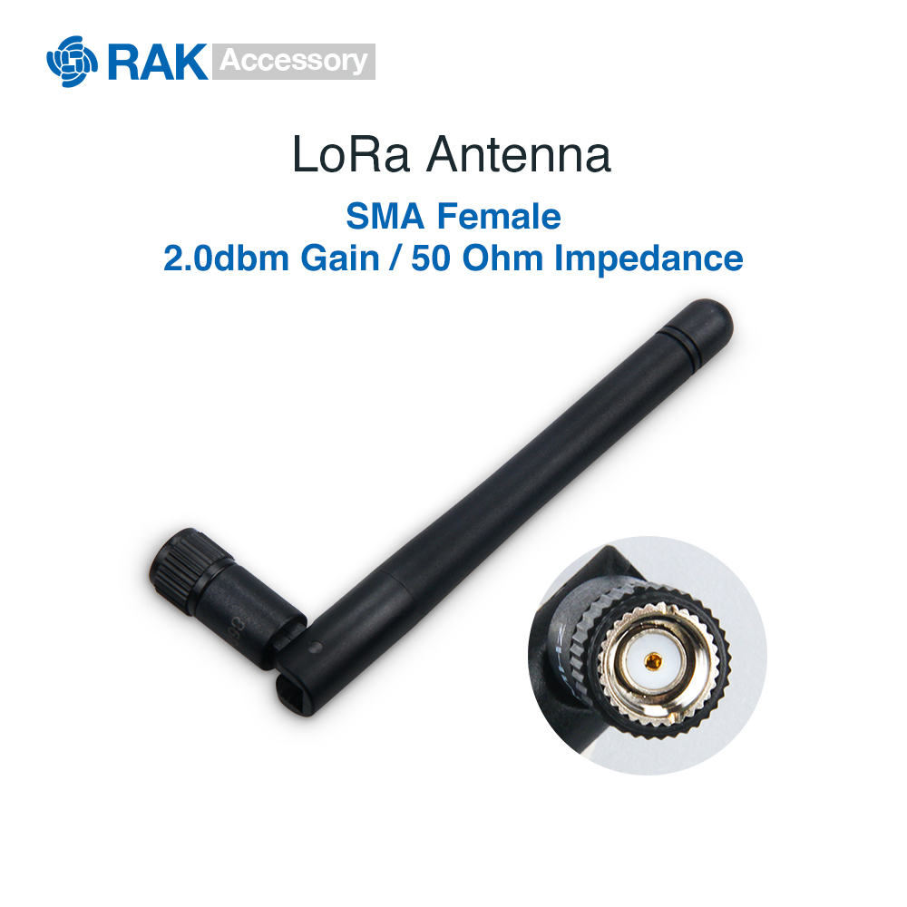 2.0dbm Gain LoRa Antenna with <font><b>SMA</b></font> Female Connector Lorawan Connect Cable <font><b>50</b></font> Ohm Impedance 433 470 868 915MHz Bands image