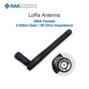 LoRa антенна с коэффициентом усиления 2.0dbm с гнездовым разъемом SMA, соединительный кабель Lorawan, сопротивление 50 Ом 433 470 868 915 МГц
