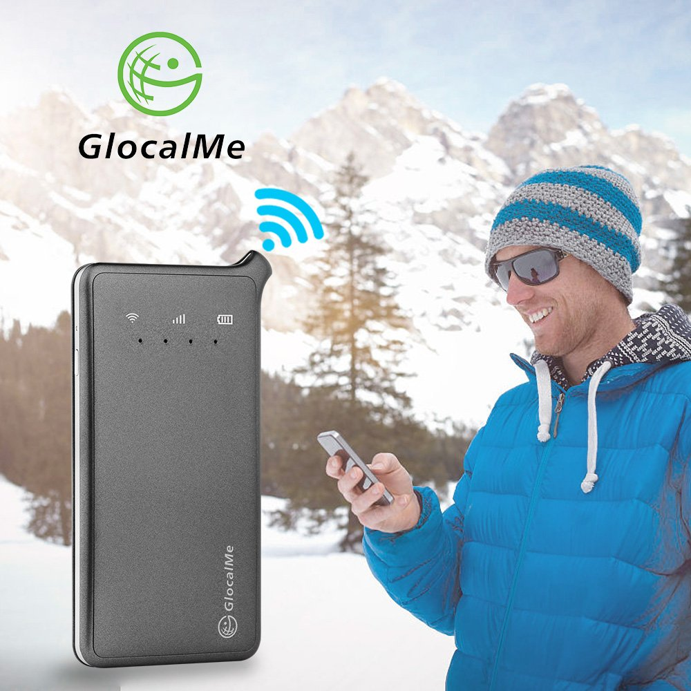 GlocalMe U2 Mobile Wifi Hotspot Portable Wifi 4G Router 100+ Countries Coverage Free Roaming Sim Card Free