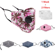 Pm2.5 Vrouwen Katoen Masker Anti Dust Luchtvervuiling Adem Klep Actieve Kool Filter Zwarte Mond Masker Mannen Herbruikbare Gezichtsmaskers