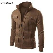 Free Ostrich Men Coats Warming Outwear New Fashion Mens Slim Designed Lapel Card