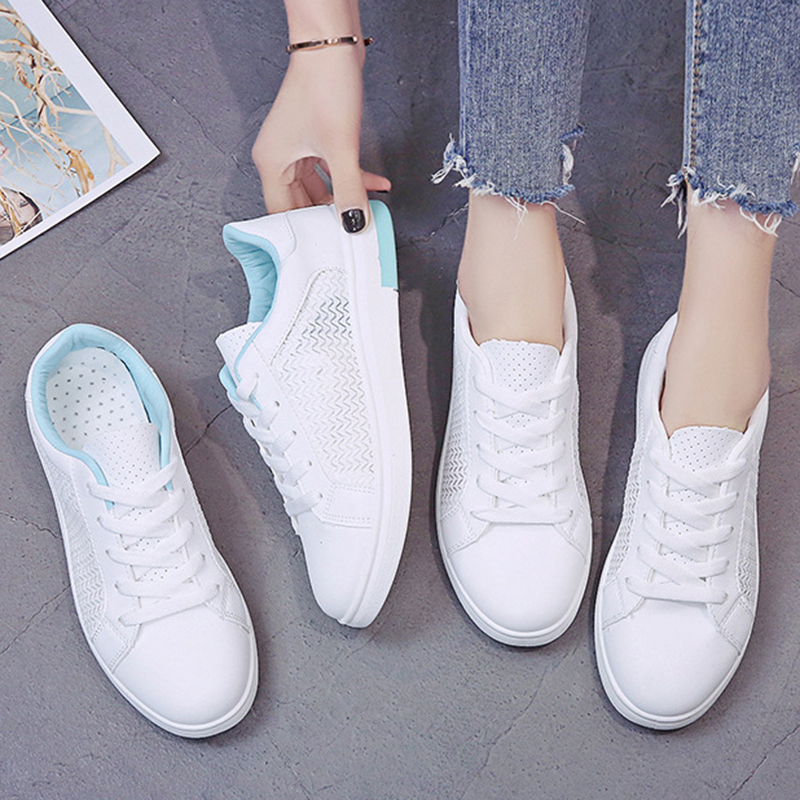 Sneakers Women Breathable Mesh Summer Autumn Women Causal Shoes Fashion White Leather Flat Walking Female Vulcanize Shoes VT1247 (24)