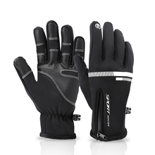 WoSporT Winter Windproof Warm Gloves Men Ski Gloves Snowboard Glove Motorcycle Riding Winter Touch Screen Snow Windstopper Glove