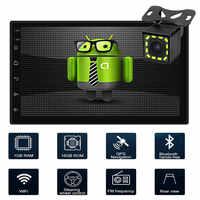 Autoradio 2 din Androi Rádio Do Carro HD 7 Tela Sensível Ao Toque de Áudio Bluetooth Câmera de Visão Traseira MP5 Multimidio player Do Carro andriod Duplo na Navegação do GPS do Android 8.1 radio Player De Vídeo
