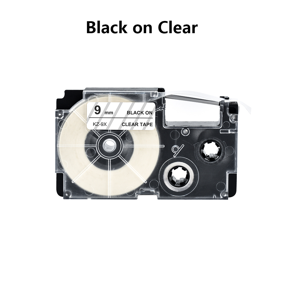 9mm Label Tape Compatible With Casio Label Printer KL-60/780/820 KL120 Label Tape Print Tape