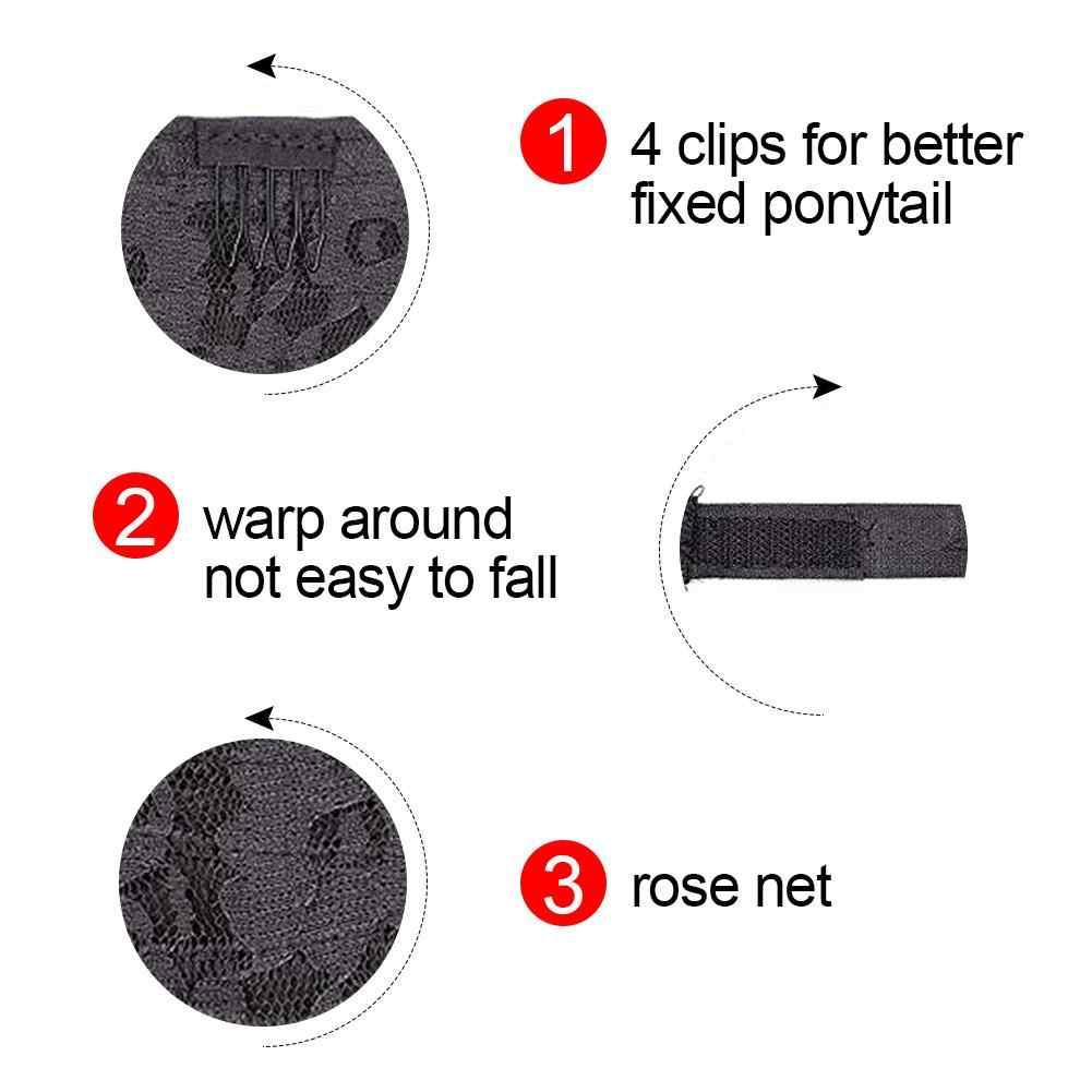 Extensión de cola de caballo pasta mágica envoltura sintética ondulada resistente al calor para mujeres 60CM herramienta de estilismo de pelo de belleza