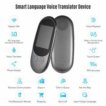 Global translator instant travel voice smart AI 50 language vocal instantan portable translation machine simultaneo traducteur