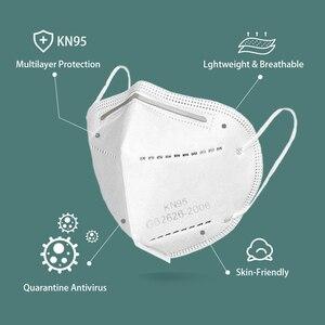 Image 3 - 5 יח\שקית KN95 פנים מסכת PM2.5 אנטי ערפל חזק מגן פה מסכת הנשמה לשימוש חוזר (לא לשימוש רפואי)