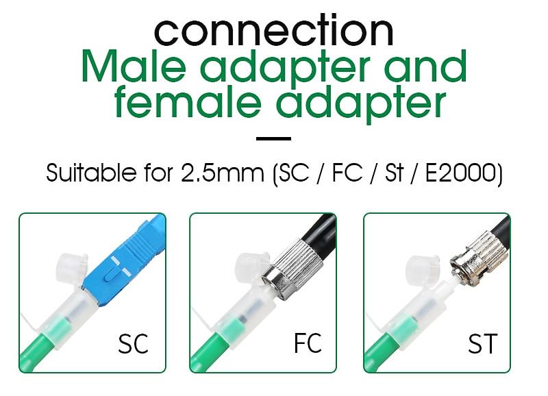 Lecxin One-Click Fibre Optic 2,5 mm One-Click Cleaner Fibre Optical Cleaning Pen pour connecteurs SC//FC//St Connexion Internet Fiber Optic Cleaner