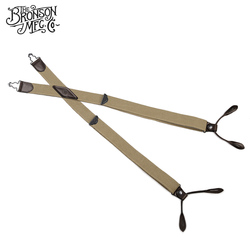 Bronson Old time tirantes de color liso traje adulto pantalones liguero de cuero de vaca espagueti flexible correa de hombro