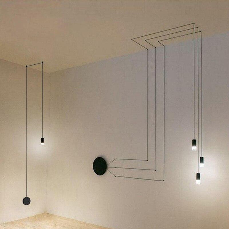 Modern LED Pendant Lights For Living Room Black Lampshade Bedroom Hanging Lamp Fixtures Restaurant Decoration Suspension Lustre