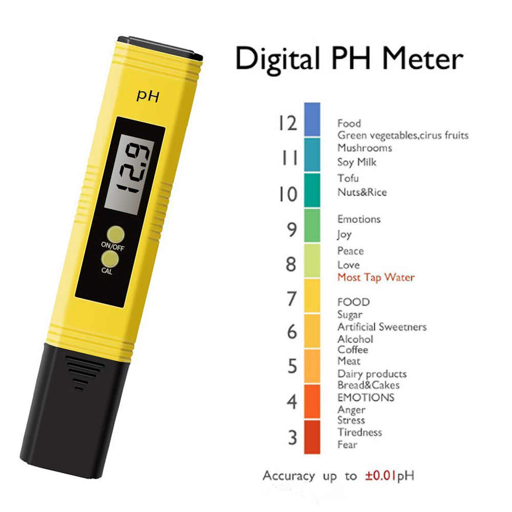 PH Probador Plum Medidora de Agua de Piscina Acuario Orina LCD Monitor Digital Port/átil