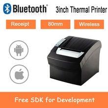 80 мм Термальность Беспроводной wi fi bluetooth чековый принтер