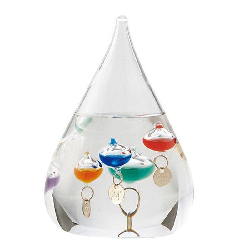Galileo Thermometer Water Drop Weather Forecast Bottle Creative Decoration Birthday Gift Children Toy