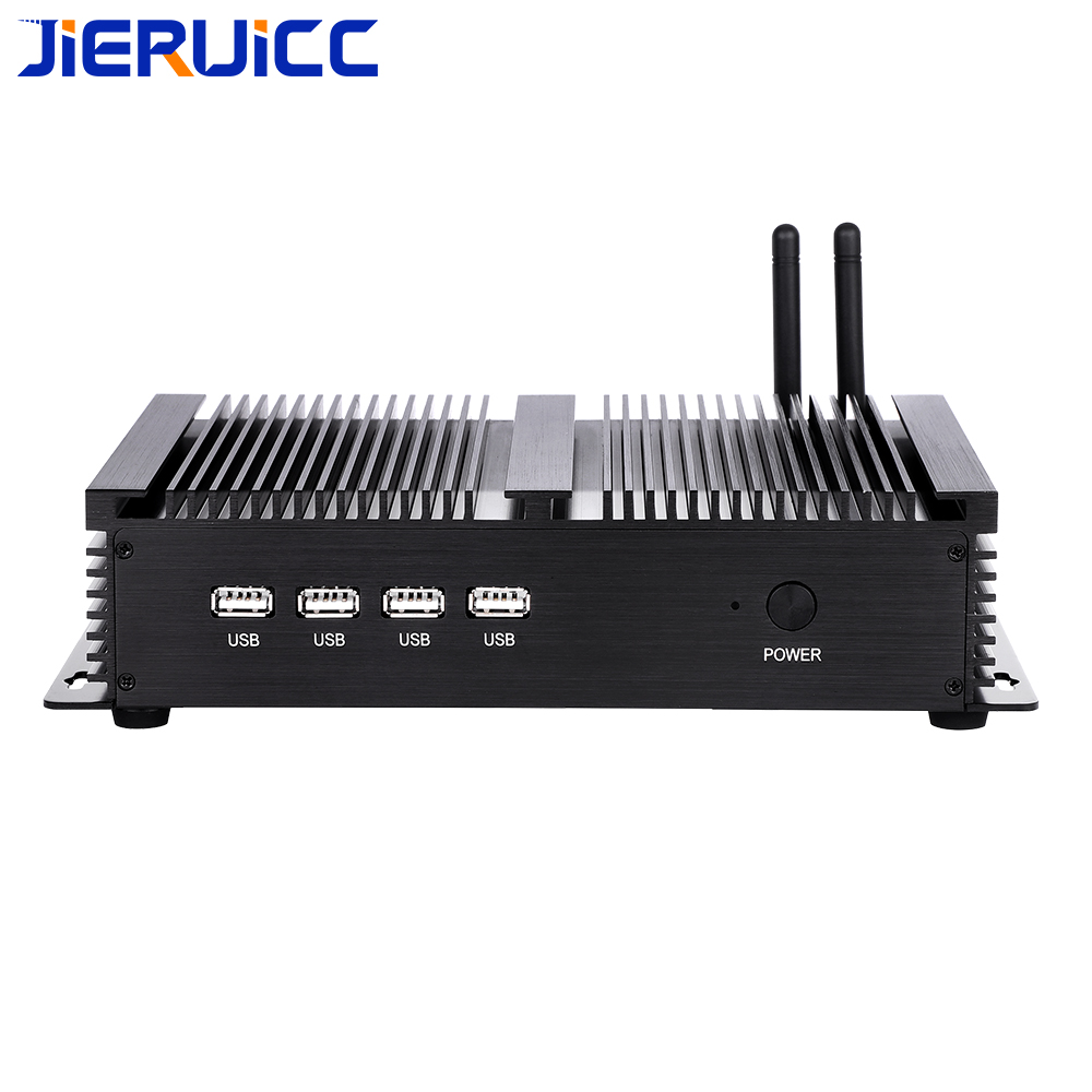 industrial grade pc with dual lan port Intel Celeron 1007U 1037U 3317 4COM RS232  Rugged Computer-in Mini PC from Computer & Office    1