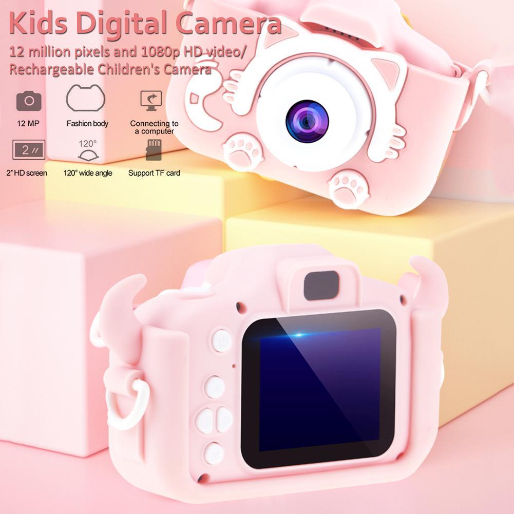 H037777eea2f94f039c42806a04430a7f0 Mini Cartoon Kids Camera Creative Children's Camera HD Digital Camera Portable 1080P Camera For Kids Birthday Christmas Gift