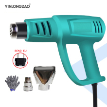 220V Heat Gun 2000W Variable Temperature Advanced Electric Hot Air Gun with two Nozzle Attachments Power Tool