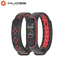 Mijobs Mi Band 4 Strap für Xiaomi Mi Band 4 3 Armband Armband Silikon Sport Smart Strap für mi band 4 Correa Armband Zubehör