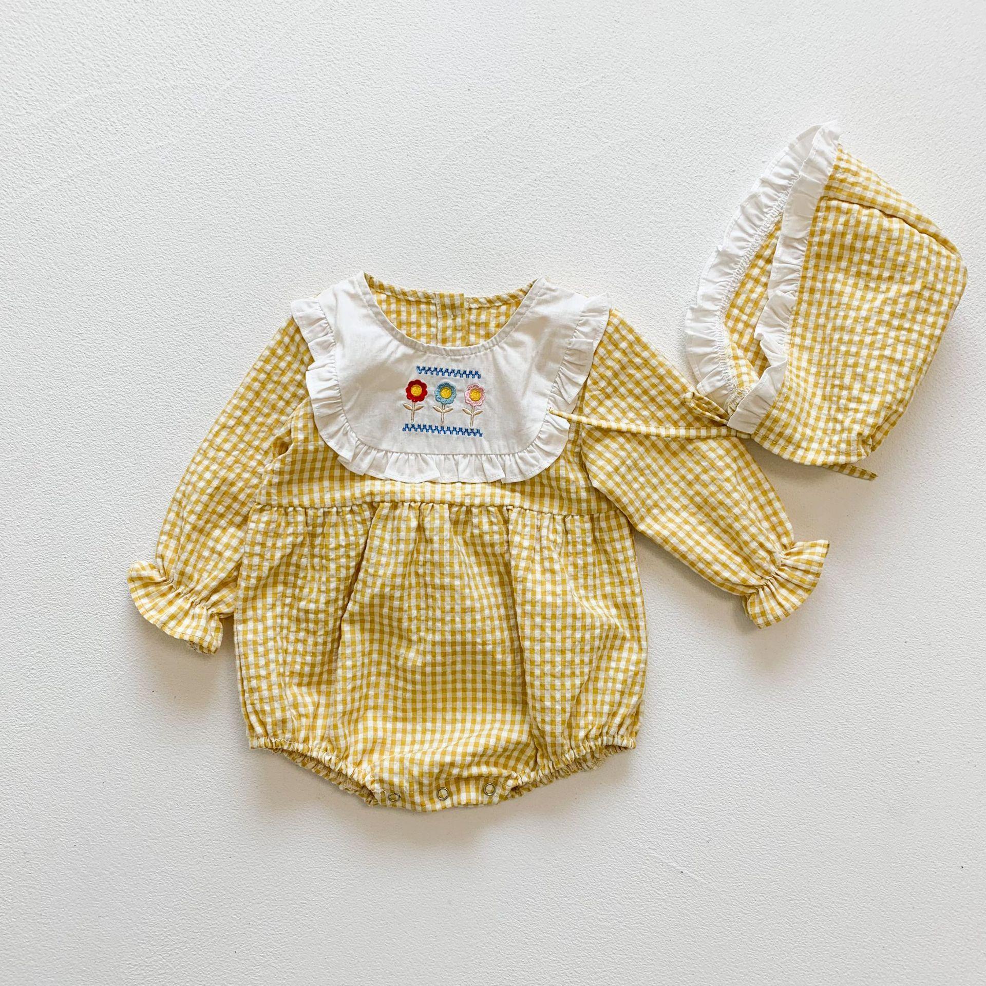 roupas de bebe xadrez macacoes 03