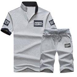 Новинка 2020, мужские летние комплекты, шорты + футболка с коротким рукавом, мужские пляжные шорты, мужские спортивные костюмы, шорты с эластич...