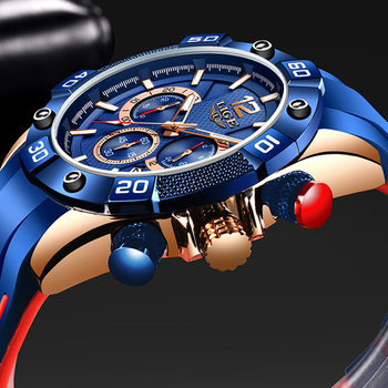 Relogio Masculino LIGE Fashion Mens Watches Top Brand Luxury Silicone Sports Watch Men Quartz Date Clock Waterproof Wristwatches