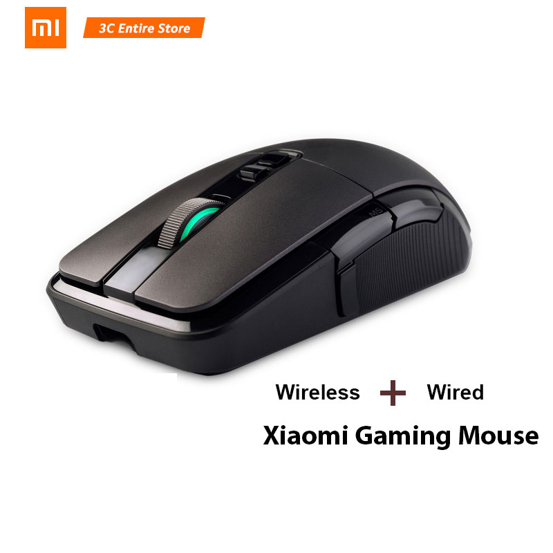 Original Xiaomi Wireless Mouse Gaming USB 2.4GHz <font><b>7200DPI</b></font> RGB Backlight Rechargeable Computer Mouse Gamer Optical image